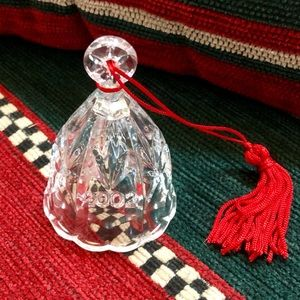 2002 WATERFORD MARQUIS CRYSTAL BELL ORNAMENT